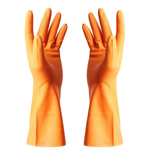 Gants Eté imperméables Gants de nettoyage vaisselles Gants -Orange