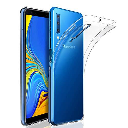 Whew Hülle Kompatibel Samsung Galaxy A7, A7 2018 Handyhülle Transparent Ultra Dünn Flexibel Silikon Hülle Premium TPU Schutzhülle. Anti-Kratzer, Anti-Dropping Handyhüllen Kompatibel Galaxy A7 2018