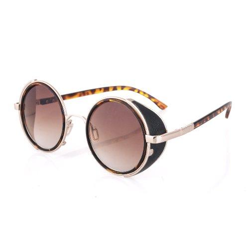Morefaz Cyber Ronde Goggles de Soleil des Lunettes de Steampunk Antique Copper (Goggle Nr5)