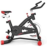WJFXJQ Spin Bike Ejercicio Bicicleta Interior Ultra Silent Cinturón Drive Cardio Workout Machine Vertical Bike Home Gym 330 lbs MAX Peso