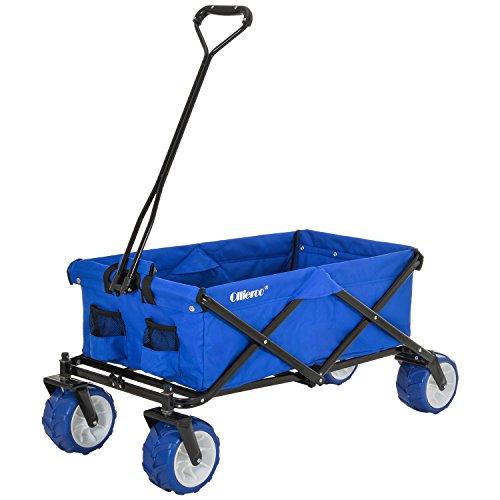 Ollieroo Outdoor Utility Wagon Folding Collapsible Garden Beach Snow Shopping...
