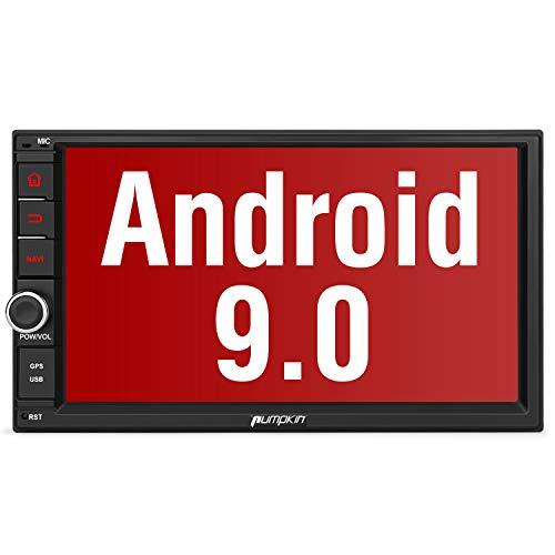 PUMPKIN Android 9.0 autoradio radio met navigatie ondersteunt Bluetooth DAB + Android Auto WiFi 4G USB MicroSD 2 Din 7 inch beeldscherm, Android 9.0 Autoradio