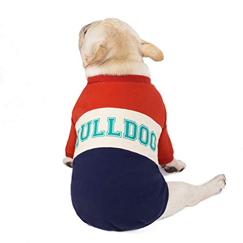 Yowablo Haustier-Kleidung Herbst und Winter Cotton-Padded Clothes Dog Patchwork (XXL,3- Wein)
