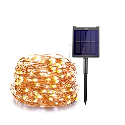 WXJWPZ RF Dimmable 200LED Outdoor Solar String Lights Fairy Holiday Christmas Party Garland Solar Garden Waterproof Light