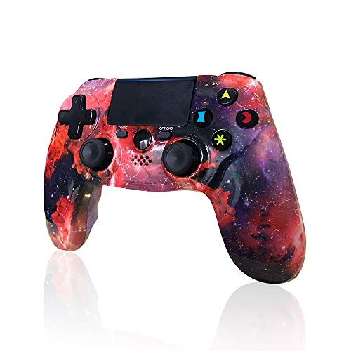CHENGDAO PS4 Controller Wireless 2020 New Galaxy Style Dual Shock High Performance Gaming Gamepad for Sony Playstation 4/Pro/Slim/PC with Audio Function, Mini LED Indicator, USB Cable (Galaxy)