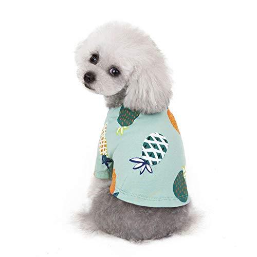 Xinger Pets Hondenkleding Zomer Shirt Puppy Vest Cat T Shirt Voor Grote Kleine Honden Chihuahua Teddy, Groen, L