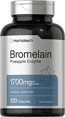 Bromelain 1700 mg | 120 Capsules | Supports Digestive Health | Pineapple Enzyme Supplement | Non-GMO, Gluten Free | by Horbaach