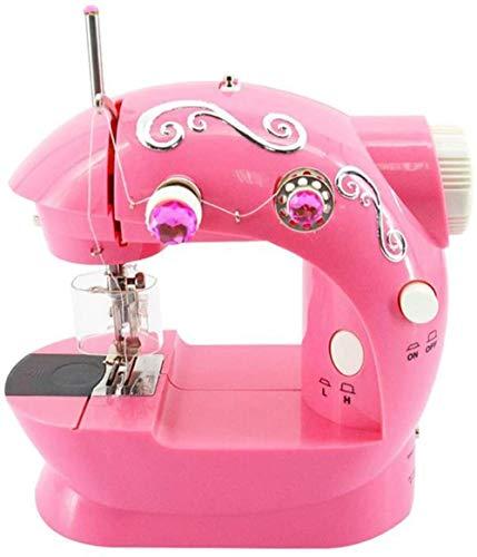 JWCN Elektrische Nähmaschine für Kinder Kleines tragbares Mini-Haushaltsnähmaschinen-Kit für Kinder Einfach zu bedienendes Heimspielzeugset für Anfänger (Farbe: Rot)-rot Uptodate