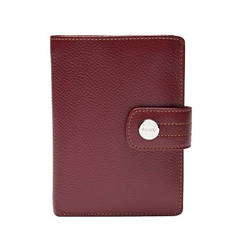Picard, Portafoglio da donna in pelle resistente, colore rosso, serie Melbourne, 8706757087