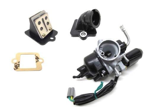 17,5mm PHVA PHVN Tuning Vergaser Set Ansaugstutzen Membranblock für Piaggio Sfera TPH NRG Zip, Gilera Runner, Derbi, Vespa ET2 LX 50