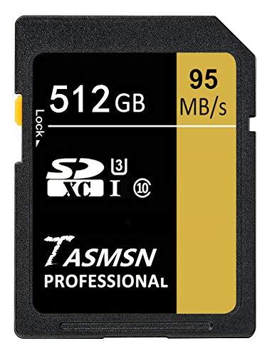 Tarjeta de memoria SDXC de 512 GB UHS-I U3 clase 10 tarjeta...