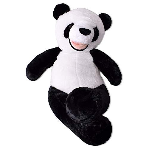TE-Trend XXL Teddybär Panda Teddy Riesen Kuscheltier Pandabär Panda Plüschtier 130 cm Weiß Schwarz