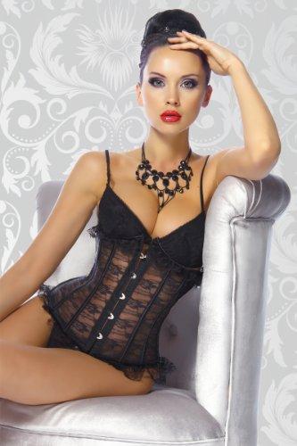Yourdesignerz Taillen-Corsage aus Spitze Damen schwarz, Größe Atixo:S