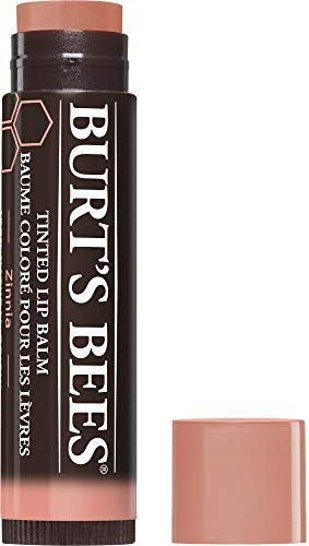 Burt's Bees 100 Prozent Natürlicher getönter Lippenbalsam Zinnia, mit Sheabutter und pflanzlichen Wachsen, 1 Stift