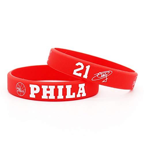 auvwxyz. Armbänder 76 Personen Simmons 25. Stern Enbid 21 Signature Basketball Leuchtarmband Sport Männer und Frauen Silikon, A, rot