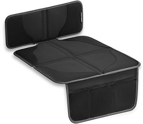 KEWAGO Kindersitzunterlage für Autositzerhöhungen. Autositz-Schutz Schoner für Sitzerhöhung / Kindersitz. Autositzschoner für ISOFIX. Auto Sitzschutz Sitzschoner. Autositzauflage Kinder.