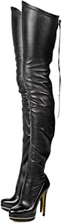 Best plus size thigh high boots no heel Reviews
