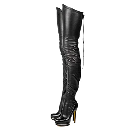 52096d8e381 Leather High Heel Boots: Amazon.com