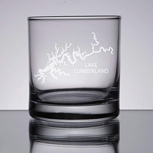 DKISEE Lake Erie Whiskey Glas, Gegraveerd wijnglas, Lake Erie Gift, De Grote Meren, 11 Ounce Dikke Weighted Bottom Clear Wijnglas 11 oz G003