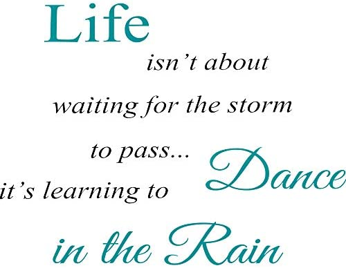 Inspirational Quotes Vinyl Wall Decal Stickers Dance in The Rain Sayings Decals Inspirational product image