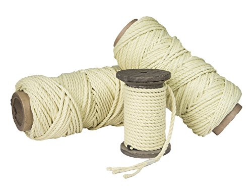 Ravenox Twisted Kevlar Rope   Braided Kevlar Cord   (Braided)(1/8-in x 50 FT) Kite String, Winch Lines, Spear and Fishing Line, Bug Out Bags, Utility Rope   Braided or Twisted   Made in The USA