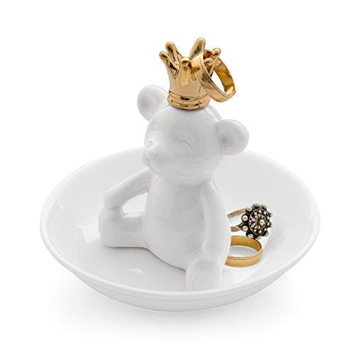 Para porcelana Coleccionable de dedal de oso Polar dorado en la parte superior