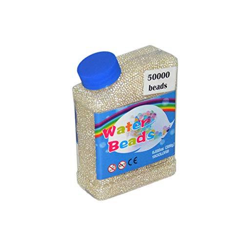 MINLIN 50000pcs/bag Home Decor Pearl Shaped Crystal Soil Water Beads Bio Gel Ball for Flower/Weeding Mud Grow Magic Jelly Balls (Clear)