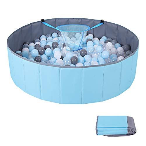 Kimiangel Ball Pit for Kids Baby, Play Yard Ball Pool Baby Playpen Fence for Baby, Folding Portable, No Need Inflate, More Than 12 Sq.ft Play Space, Balls Not Included