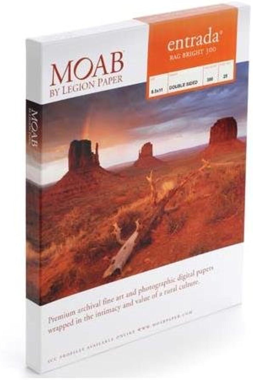 Moab Entrada Rag Bright Bright Bright 300 8.5x11 25 Sheets by Moab B000UMYMTI    Nutzen Sie Materialien voll aus  7794f0