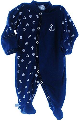 Schlafanzug Baby Strampler Anzug Overall 50 56 62 68 74 80 86 92 Langarm Fuß (56)