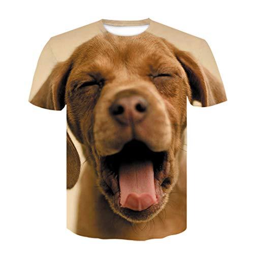 Zodiaco Vaca Cerdo Perro Camiseta para los Hombres Ocasionales de Las Mujeres Camiseta Divertida de la impresión 3D Camiseta