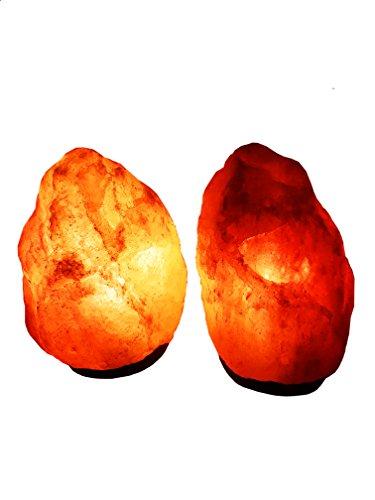 2x Salzlampe Kristall Salzlampe 2-3 kilo inklusive Salzlampenfassung und Birne