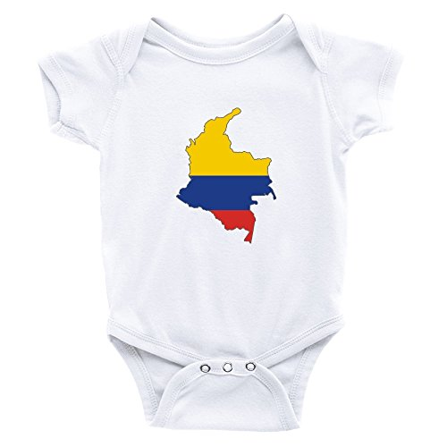 Teeburon Colombia Country Map Color Simple Body de bebé