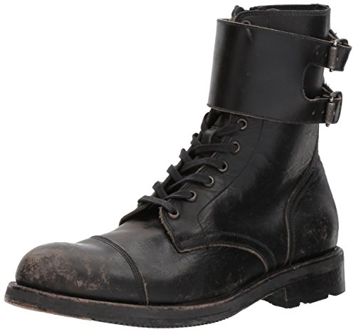 FRYE Herren Stulpen-Stiefel im Offiziers-Design, schwarz, 42 EU