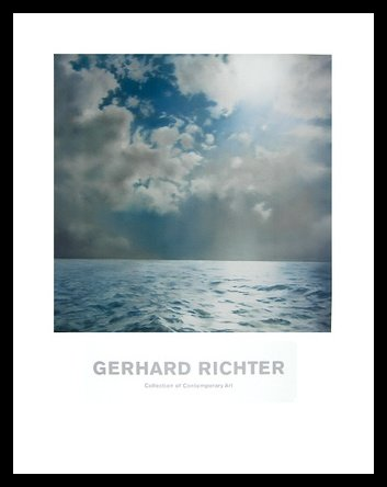 Gerhard Richter Seestück Poster Kunstdruck Bild im Alu Rahmen in schwarz 90x70cm