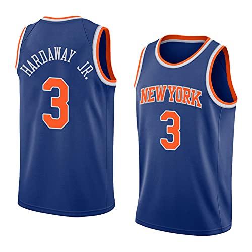 FHXY Harawayjr Knicks # 3 Camisetas de Baloncesto para Hombres, la Ropa Deportiva cómoda y Transpirable, Las Tapas sin Mangas, la Mejor opción para los Deportes al Aire l XXL
