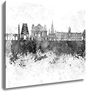 Ashley Canvas Chennai Skyline in Watercolor, Wall Art Home Decor, Ready to Hang, Black/White, 16x20, AG5936128
