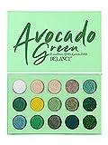 Paleta de Sombra de Ojos Verde Aguacate de 15 Colores Brillo Mate Maquillaje Brillo Sombra de Ojos cosmética de Larga duración