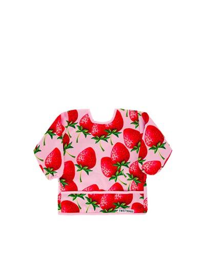 TWISTSHAKE 78510 Babero Con Mangas Impermeable Bebé, A Partir De 6 Meses, color Strawberrry, Talla única