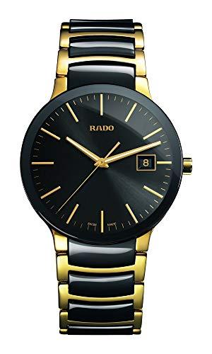 Reloj Rado Centrix de Hombre en cerámica Negra y Acero Dorado, R30929152