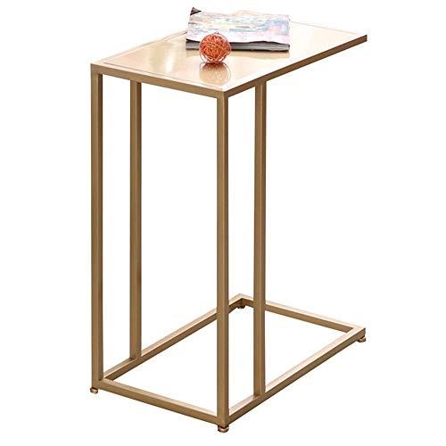C-Förmigen Metall (Eisen) Beistelltisch Schreibtisch Wohnzimmer Schlafzimmer Schlafsofa Beistelltisch 3 Farben L48 * B28 * H58Cm, BOSS LV, Gold