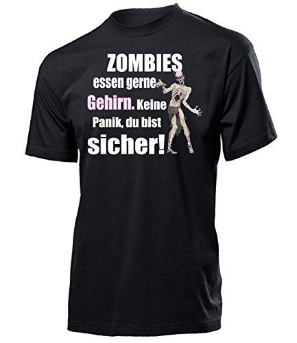 Zombies Essen gerne Gehirn 5127 Halloween Kostüm Herren Mann T-Shirt Artikel Outdoor Dekoration Zubehör Spinnennetz Handschuhe Augen Finger Grabstein