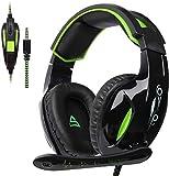 SUPSOO G813 Xbox One Casque Gaming 3,5 mm câble d'isolement du microphone de contrôle de volume pour Mac/PC/Laptop/Xbox One-noir