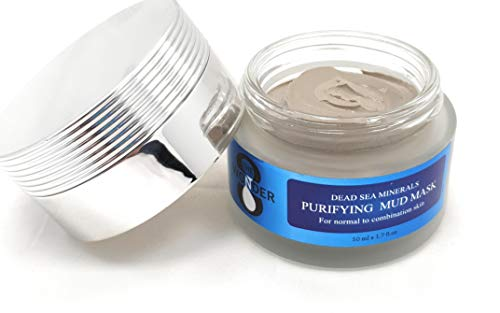THE 8 WONDER Purifying Dead Sea Mud Mask for Face & Body - 100% Natural Spa Quality - Best Pore Reducer & Minimizer to Help Treat Acne, Blackheads & Oily Skin 1.7 Fl Oz