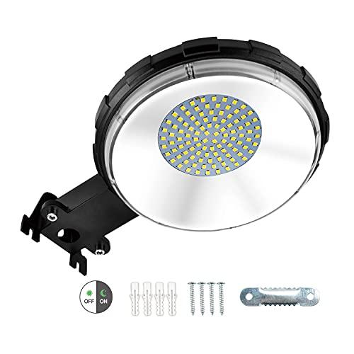 100W LED Strahler Außen, IP65 Wasserdicht LED Fluter, Superhell 10000LM 6000K Kaltweiß LED Scheiwerfer, LED Aussenstrahler mit Dämmerungssensor für Garten, Garage, Derrasse, Hinterhof, Auffahrt