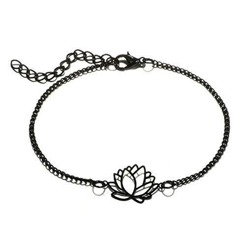 GOMYIE 4Pcs Jewelry Love Peach Heart Hollow Lotus Ball Leaf Bracelet For Women