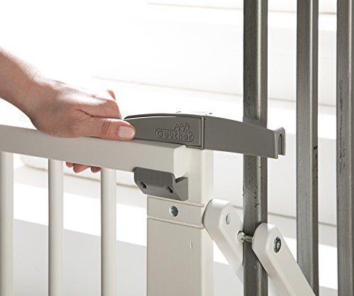 Geuther - Treppenschutzgitter ausziehbar 2733+, für Kinder/Hunde, Schrauben/Klemmen am Geländer, verstellbar, Holz, weiß, 67 - 107 cm, TÜV geprüft - 5