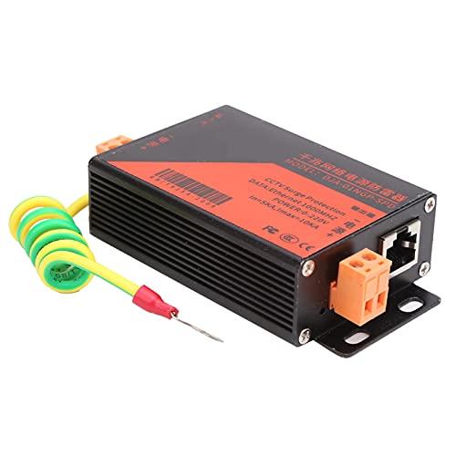 Zwinner Ethernet-Überspannungsschutz, Überspannungsschutz des CCTV-Systems, 1000MHz POE-Ableiterschutz, Gigabit-Netzwerkstromschutz mit Selbstwiederherstellungsfunktion, 10KV Donnerschutz