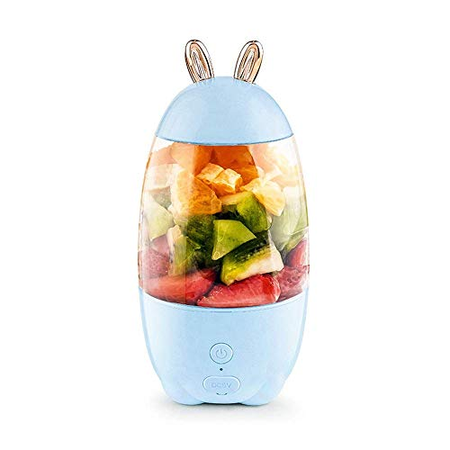 WYZQ Exprimidor portátil Mini 30 ml Exprimidor USB Recargable pequeño Exprimidor de Jugo eléctrico Licuadora de Alimentos Taza exprimidora portátil para el hogar Cocina Oficina Deportes al Aire l