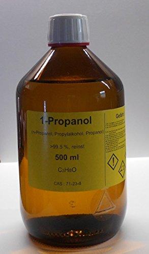 500 ml 1-Propanol 99,5%, n-Propanol, Methanol Ersatz, Reinigungs- und Desinfektionsmittel